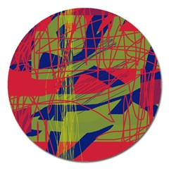 High Art By Moma Magnet 5  (round) by Valentinaart