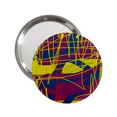 Yellow High Art Abstraction 2 25  Handbag Mirrors by Valentinaart