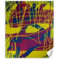 Yellow High Art Abstraction Canvas 20  X 24