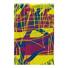Yellow High Art Abstraction Shower Curtain 48  X 72  (small)  by Valentinaart