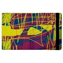 Yellow High Art Abstraction Apple Ipad 2 Flip Case by Valentinaart