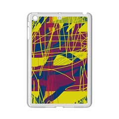 Yellow High Art Abstraction Ipad Mini 2 Enamel Coated Cases by Valentinaart