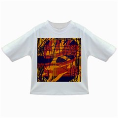 Orange High Art Infant/toddler T Shirts by Valentinaart