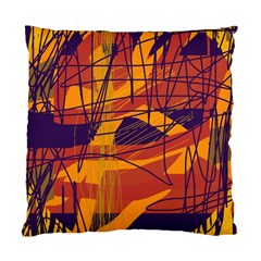 Orange High Art Standard Cushion Case (one Side) by Valentinaart