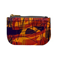 Orange High Art Mini Coin Purses by Valentinaart