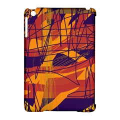 Orange High Art Apple Ipad Mini Hardshell Case (compatible With Smart Cover) by Valentinaart