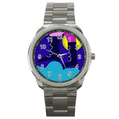 Walking On The Clouds  Sport Metal Watch by Valentinaart