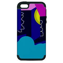 Walking On The Clouds  Apple Iphone 5 Hardshell Case (pc+silicone) by Valentinaart