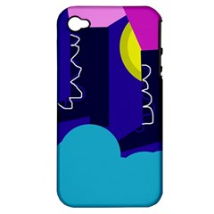 Walking On The Clouds  Apple Iphone 4/4s Hardshell Case (pc+silicone) by Valentinaart