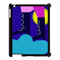 Walking On The Clouds  Apple Ipad 3/4 Case (black) by Valentinaart