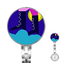 Walking On The Clouds  Stainless Steel Nurses Watch by Valentinaart