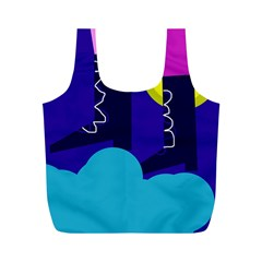 Walking On The Clouds  Full Print Recycle Bags (m)  by Valentinaart