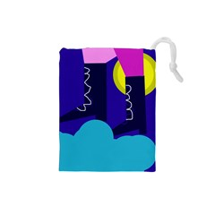 Walking On The Clouds  Drawstring Pouches (small)  by Valentinaart