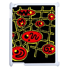 Red And Yellow Hot Design Apple Ipad 2 Case (white) by Valentinaart