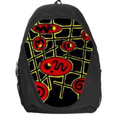 Red And Yellow Hot Design Backpack Bag by Valentinaart