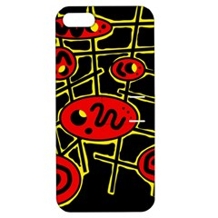 Red And Yellow Hot Design Apple Iphone 5 Hardshell Case With Stand by Valentinaart