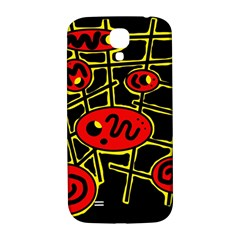Red And Yellow Hot Design Samsung Galaxy S4 I9500/i9505  Hardshell Back Case by Valentinaart