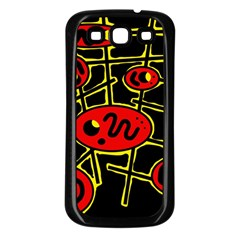 Red And Yellow Hot Design Samsung Galaxy S3 Back Case (black) by Valentinaart