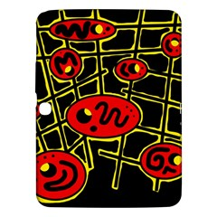 Red And Yellow Hot Design Samsung Galaxy Tab 3 (10 1 ) P5200 Hardshell Case  by Valentinaart