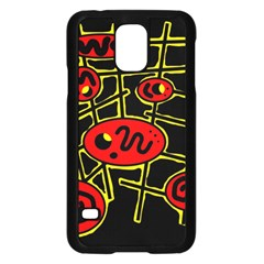 Red And Yellow Hot Design Samsung Galaxy S5 Case (black) by Valentinaart
