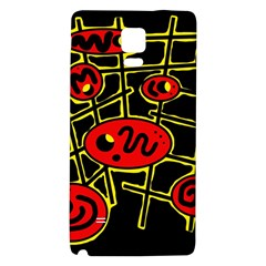 Red And Yellow Hot Design Galaxy Note 4 Back Case