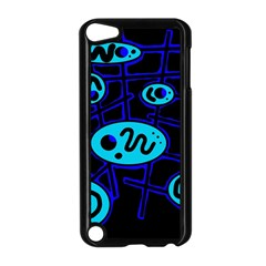 Blue Decorative Design Apple Ipod Touch 5 Case (black) by Valentinaart