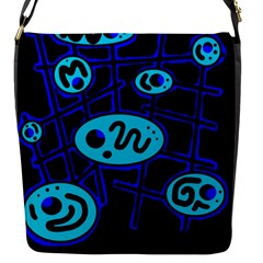 Blue Decorative Design Flap Messenger Bag (s)