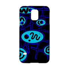 Blue Decorative Design Samsung Galaxy S5 Hardshell Case  by Valentinaart