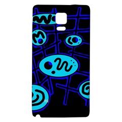 Blue Decorative Design Galaxy Note 4 Back Case by Valentinaart