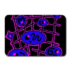 Blue And Magenta Abstraction Plate Mats by Valentinaart