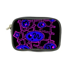 Blue And Magenta Abstraction Coin Purse by Valentinaart