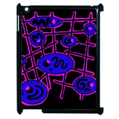 Blue And Magenta Abstraction Apple Ipad 2 Case (black) by Valentinaart