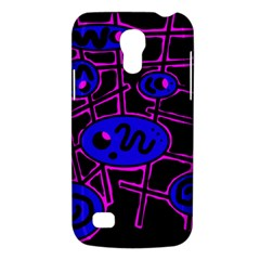Blue And Magenta Abstraction Galaxy S4 Mini by Valentinaart