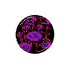Purple And Red Abstraction Hat Clip Ball Marker by Valentinaart