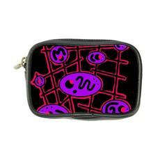 Purple And Red Abstraction Coin Purse by Valentinaart