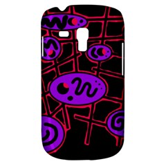 Purple And Red Abstraction Samsung Galaxy S3 Mini I8190 Hardshell Case