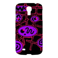 Purple And Red Abstraction Samsung Galaxy S4 I9500/i9505 Hardshell Case