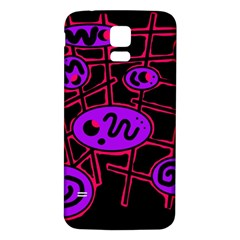 Purple And Red Abstraction Samsung Galaxy S5 Back Case (white)