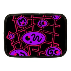 Purple And Red Abstraction Netbook Case (medium)