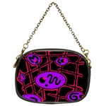 Purple and red abstraction Chain Purses (One Side)  Front