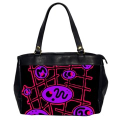 Purple And Red Abstraction Office Handbags (2 Sides)  by Valentinaart