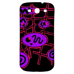 Purple And Red Abstraction Samsung Galaxy S3 S Iii Classic Hardshell Back Case by Valentinaart
