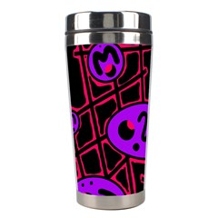 Purple And Red Abstraction Stainless Steel Travel Tumblers
