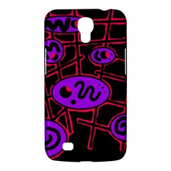 Purple And Red Abstraction Samsung Galaxy Mega 6 3  I9200 Hardshell Case by Valentinaart