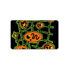 Orange And Green Abstraction Magnet (name Card)