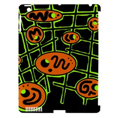 Orange And Green Abstraction Apple Ipad 3/4 Hardshell Case (compatible With Smart Cover) by Valentinaart