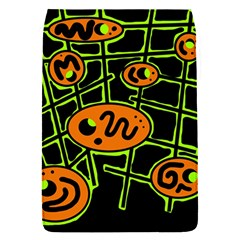 Orange And Green Abstraction Flap Covers (s)  by Valentinaart