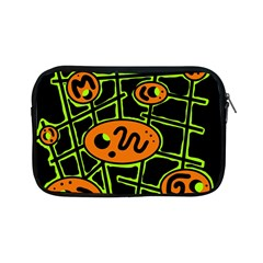 Orange And Green Abstraction Apple Ipad Mini Zipper Cases by Valentinaart