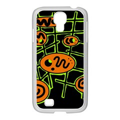 Orange And Green Abstraction Samsung Galaxy S4 I9500/ I9505 Case (white) by Valentinaart
