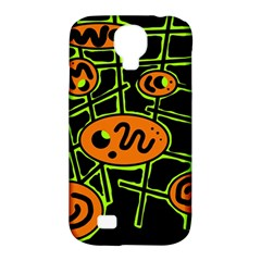Orange And Green Abstraction Samsung Galaxy S4 Classic Hardshell Case (pc+silicone)